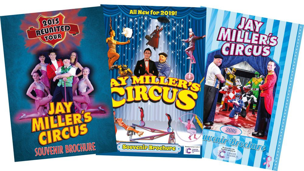 Jay Miller's Circus Brochures Selection