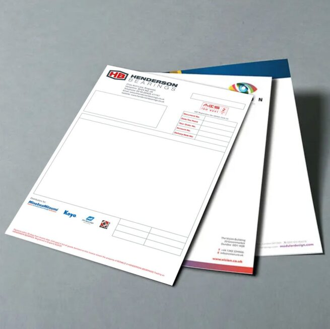 Printed Forms and Invoice Sheets